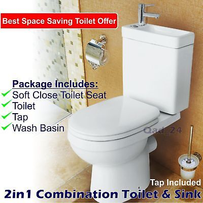 2in1 combo combination toilet sink wash basin bathroom wc. Black Bedroom Furniture Sets. Home Design Ideas