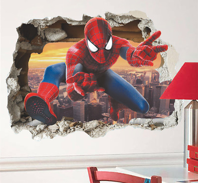 Vinilo spider spiderman wall stickers for kids room decorative pared