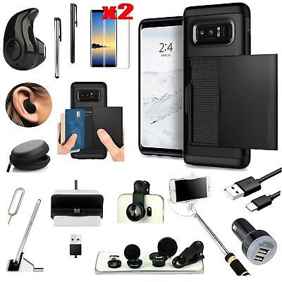 Case+Bluetooth Earphones+Monopod+Fish Eye Accessory For Samsung Galaxy Note 8