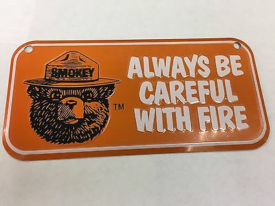 Orange Smokey Bear Metal tin sign license