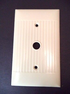 Sierra vintage mid century line ribbed ivory cable telephone switch plate cover