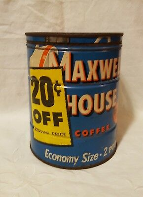 Vintage Maxwell House 2 Pound Coffee Can