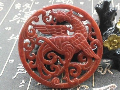 Old China Hand-carved jade Pendant worn aristocratic art collection B95