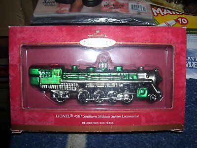 lionel 4501 southern mikado steam loco blown glass tree ornament