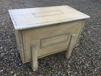 Painted Pine Dough Bin With Hinged Lid C 19th C