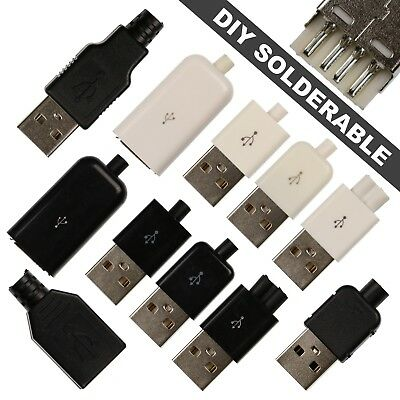 DIY Solderable USB Type A Connectors - 4 Pin Male & Female Connectors - 11 Types