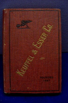 "FINE ORIGINAL "" CATALOGUE of KEUFFEL & ESSER Co."" HARD COVER VOLUME FROM 1921 !"