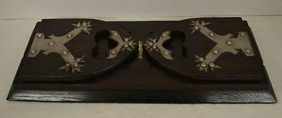 "Antique Tiffany & Co "" Union Square"" Gothic Revival Wood & Metal Bookend/ Rack"