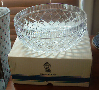 """Waterford 10"""" Salad Bowl / New In A Box"""