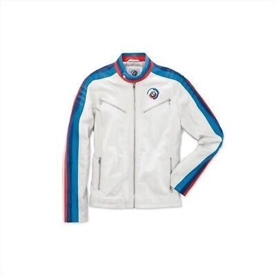 New Genuine BMW Motorsport Heritage Leather Jacket Unisex 80142445935-6