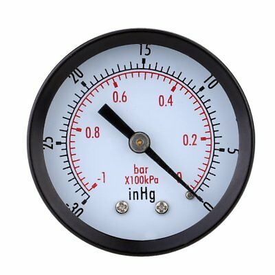 SS Pressure Gauge - 0 ~ -30inHg 0 ~ -1 bar Mini Dial Air vacuum pressure gauge p