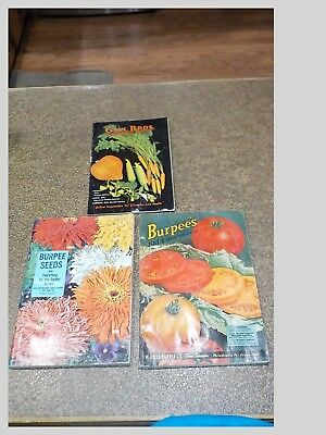 Lot Of 3 Antique Seed And Flower Ordering Catalogs-Gill Bros.& Burpee Seeds-
