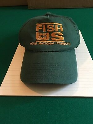 US Forest Service Fish US Your National Forests Baseball Hat / Cap One Size
