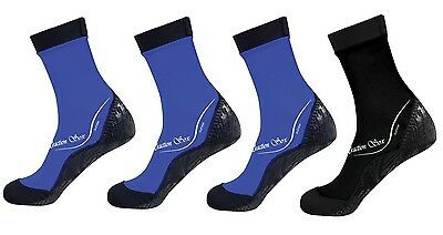 ScubaMax Kids Toddlers Water Sports Traction Soxs - LARGE - 3 BLUE & 1 BLACK