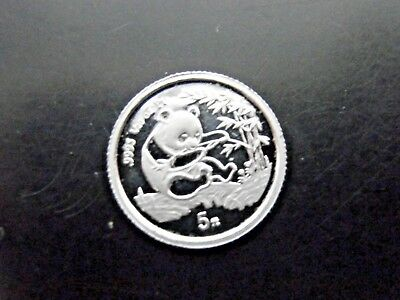 Rare 1994 Proof Platinum Panda 1/20th oz 5 Yuan