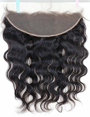 """Extension Hair Lace Front Closure with Baby Bleached Knot Virgin Human Locks 10"""""""