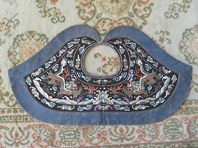 Fine Chinese Embroidered Pi-Ling Dragon Collar Antique Collector Quality