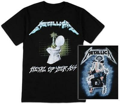 Metallica - Metal Up Your Ass - Men's Official Black T-Shirt US IMPORT