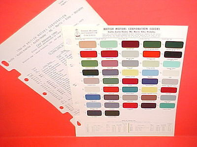 1950-1965 Austin Healey 100 3000 Sprite Mg Mga Morris Riley Wolseley Paint Chips