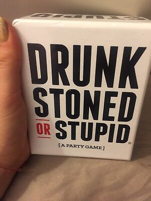 DRUNK STONED OR STUPID [A Party Game] New