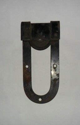 1 Original Vintage Antique Horseshoe Barn Door Roller Hanger