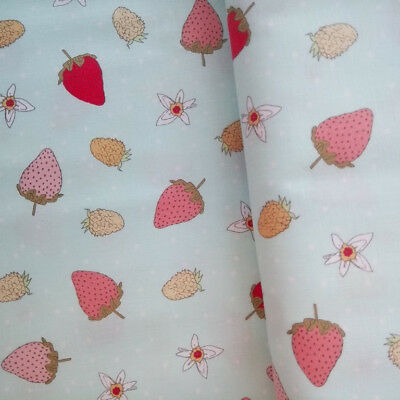 RED William Morris Strawberry Thief Cotton OILCLOTH Fabric 140cm wide, Sanderson