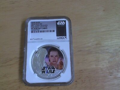 2016 SILVER STAR WARS THE FORCE AWAKENS REY - NGC PF70 Ultra Cameo 066