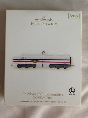 Hallmark Keepsake Lionel Train in box Freedom Train Locomotive 2007