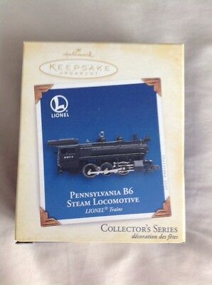 Hallmark Keepsake Lionel Train in box Pennsylvania B6 Steam Locomotive 2005