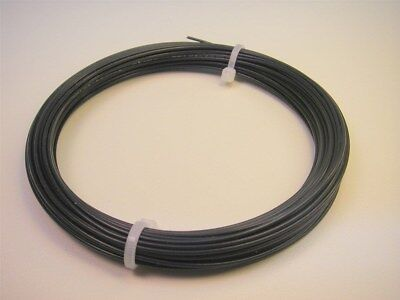50' Mil-Spec 22-AWG Silver Plated Electrical Wire 19strand Black-Tefzel US-Selle
