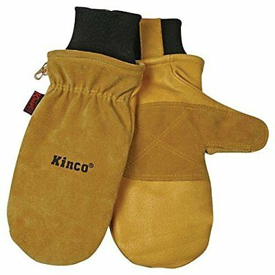 Heat Keep Thermal Lining Durable Pigskin Leather Mitt Gloves Medium by Kinco