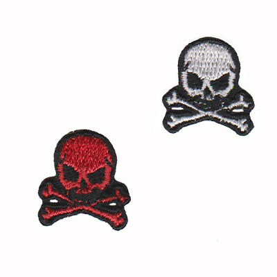 Tiny Skull Patches-NEW-iron,sew,glue on embroidered crossbones *USA Seller*  776