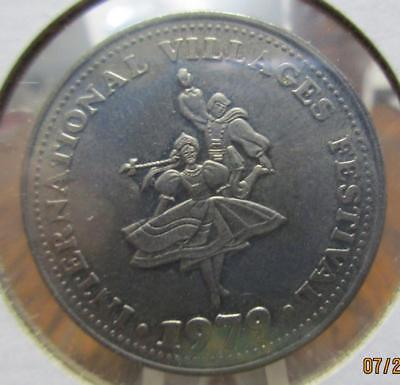 1979 International Villages Festival.  City of Branford Trade Dollar      JJ-M98