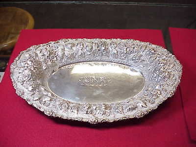 "STIEFF* Sterling Silver ~ ROSE  BREAD TRAY ~ 12 3/4"" x 81/4in. ~ 465 Grams~NICE!"