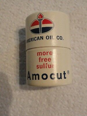 """Old UNUSED """"AMOCUT American Oil Co."""" Cylinder Matches"""