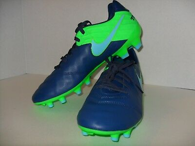 huge selection of 258cd 4f68e Nike Tiempo Mystic V Fg Mens Soccer Cleats Navy Blue Us Size 9