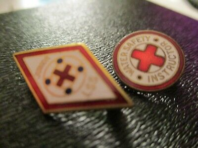 1930-1940 BSA & Red Cross Junior LSS Swimming Service Pin & 2nd Red Cross pin