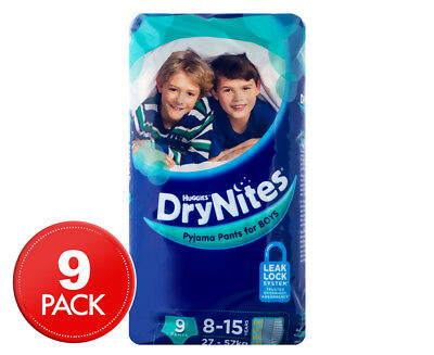 Huggies DryNites Pyjama Pants For Boys 8-15 Years 27-57kg 9pk