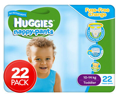 Huggies Nappy Pants For Boys Toddler 10-15kg 22pk