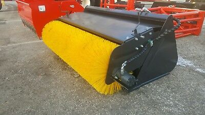 Rotary Broom Brush Bucket Sweeper skid steer tractor attachment 72""