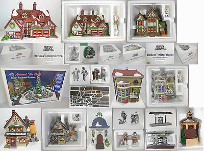 Dept 56 Dickens Village Collection #4, Qty 12 Items, 4 Buildings & 8 Accessories