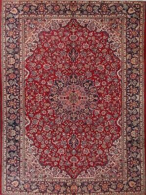 """Antique Traditional Floral 9x13 Isfahan Persian Oriental Area Rug 12' 9"""" x 9' 3"""""""