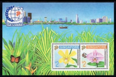 Singapore 1992 Orchids MS MNH