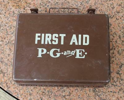 Vintage PG&E first Aid kit