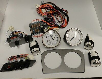LARSON KIT OF 5 Faria Gauges & Wiring Harness y Key Switch Complete on