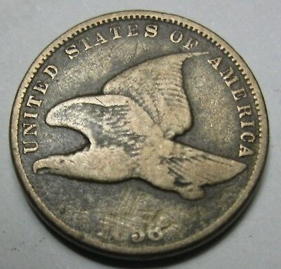 1858 US SL Flying Eagle Cent Great Type Coin  Low Start .99 Ships Free NR