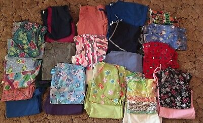 Lot of 30 item Women's scrub tops and pants size xsmall small petite and regular