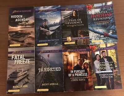 Lot of 14 Love Inspired Suspense Romances - ALL LARGER PRINT - Christian fiction