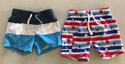 Baby Boy Elastic Waist Quick-Dry Shorts X2, Target & Baby Berry, Size 00, Bnwots