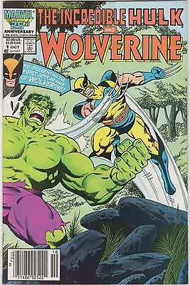 Marvel Comics THE INCREDIBLE HULK and WOLVERINE #1 (Oct 1986) WOW!